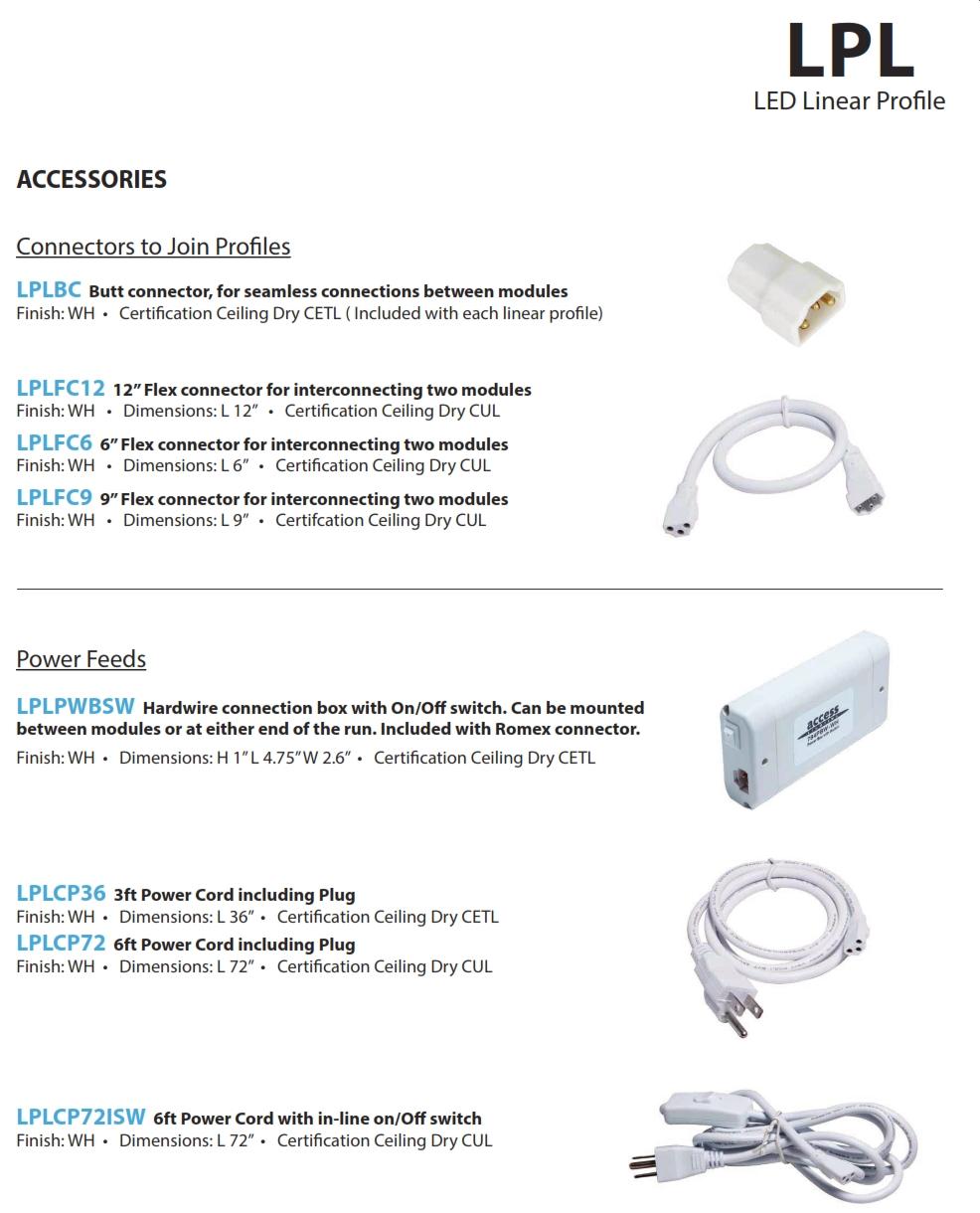 14 wattlow profile led linear lighting system lighting supply lplcat1g lplcat2g xflitez Images