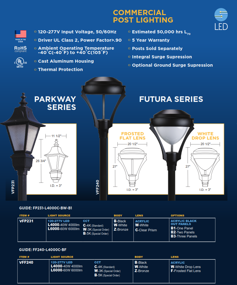 parkway and futura series street lighting lighting supply outlet