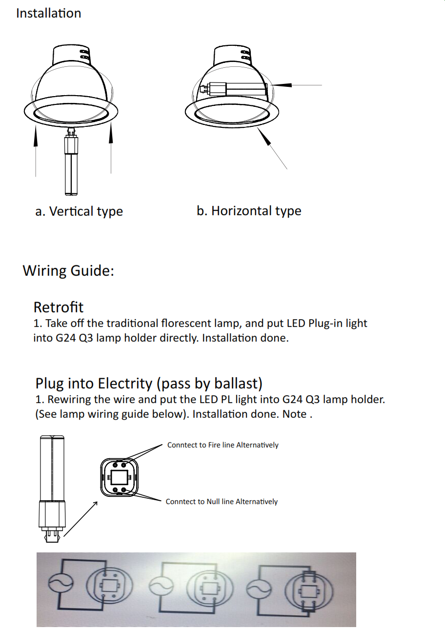 Pl Lamp Wiring Diagram Specifications Light Relay Wire Simple Remote On Off Switch Circuit All About Series Vpl Led 4 Pin Direct Replacement For G24 Q